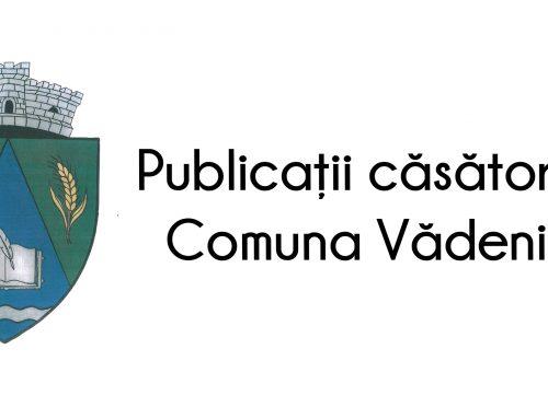 Publicație căsătorie Giafir Gigi și Scutari Liudmila